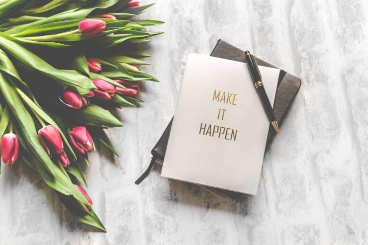 花束と手帳